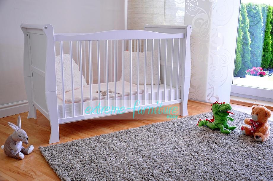 De Madera Bebé Cuna Cama Y Colchón De Aloe Vera de lujo ✔ convierte a la cama del niño